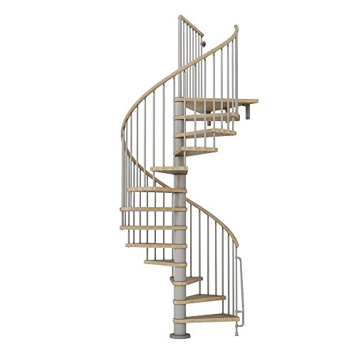 wood spiral staircase kit - 9