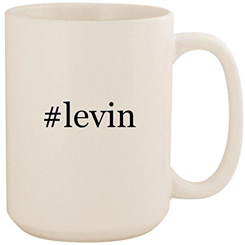 #levin - White Hashtag 15oz Ceramic Coffee Mug ()