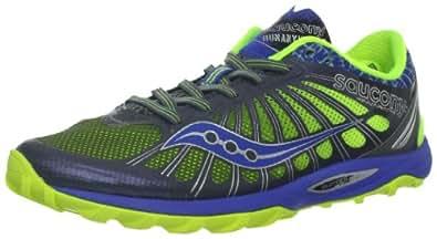 Saucony Women's Kinvara TR2 Running Shoe,Grey/Blue/Citron,5 M US