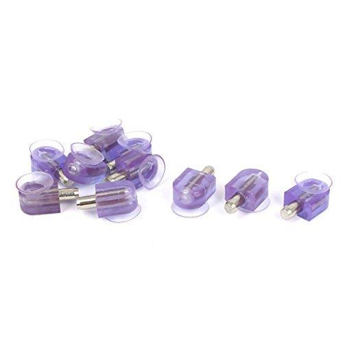eDealMax Armoire d'aspiration en verre Cabinet Coupe du Plateau Support Pin Support 10 pcs