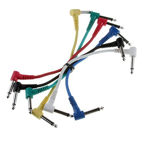 Pedal Effects Cord Cable Patch (Foto4easy Set of 6 Pcs Guitar Patch Cable Effects Pedal 1/4