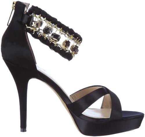 Liu Jo SANDAL S12067 T0380 - Sandalias de vestir de satén para mujer Negro