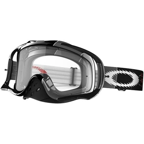 Oakley Ryan Villopoto Signature Series Crowbar MX Men's Special Editions Motocross/Off-Road/Dirt Bike Motorcycle Goggles Eyewear - RV2 Grey/Clear / One Size Fits - Oakley Specials