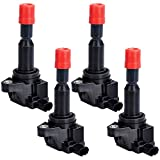 Ignition Coil Pack of 4 Replaces OE# UF581, C1578, UF-581 for 2007-2008 Honda Fit 1.5L L4-2 Yr Warranty