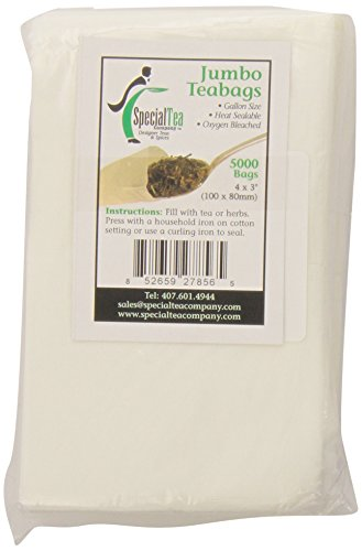 Special Tea Company 4 by 3-Inch 5000-Piece Empty Tea/Herbs Bags, Jumbo by Special Tea Company