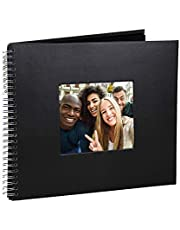 Álbum de fotografias 30x30cm Scrapbook Glamour Preto c/ 40 Páginas
