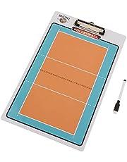 perfeclan Pizarra de Fútbol/Baloncesto/Voleibol Plegable para Entrenadores Tablero de Entrenamiento PVC Herramientas de Tablero de Borrado en Seco Accesorios