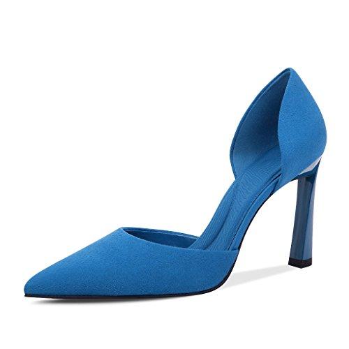À Été Hauts en Cuir 38 Et Taille JIANXIN Fins des pour des Et avec Bleu Chaussures Couleur Profondes Et Talons en Talons Femmes Aiguilles Rouge des Talons Chaussures Peu q5xppwvt