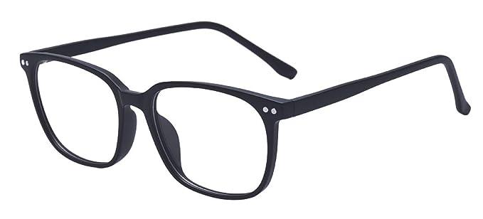 77bbd75d35d Outray Vintage Rectangle Designer Glasses TR90 Frame With Clear Lens Glasses  2196c1 Black