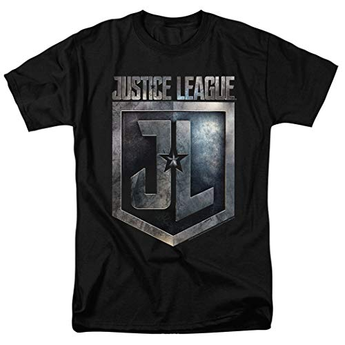 Justice League Movie Shield DC Comics T Shirt & Exclusive Stickers (Small)
