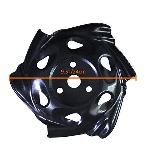 GUCIStyle - Cuchilla de cortacésped de Acero al Carbono - 9, 5 ...