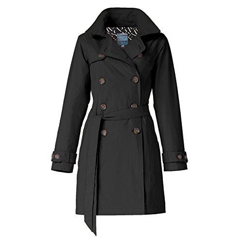 Noir pluie de coat avec HappyRainyDays Femme trench capuche Veste Manteau impermable gqOnwHv