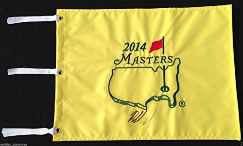 BUBBA WATSON SIGNED 2014 AUGUSTA MASTERS PIN FLAG RYDER CUP PROOF COA J7