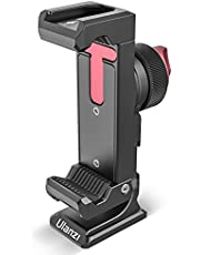"""ULANZI ST-27 Aluminum Phone Tripod Mount w/ 3 Cold Shoes, Arca-Swiss Cell Phone Tripod Mount Adapter w/ 3 1/4"""" Interfaces, 360° Adjustable Phone Tripod Bracket Holder for iPhone, Samsung & All Phones"""