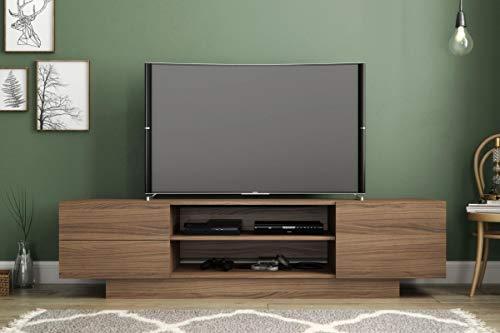 Nexera 115462 Morello TV Stand, 72-inch, Nutmeg, Beige