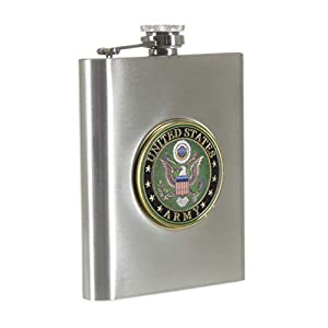 Army Challenge Coin Stainless Steel Flask from Chris Permann Products