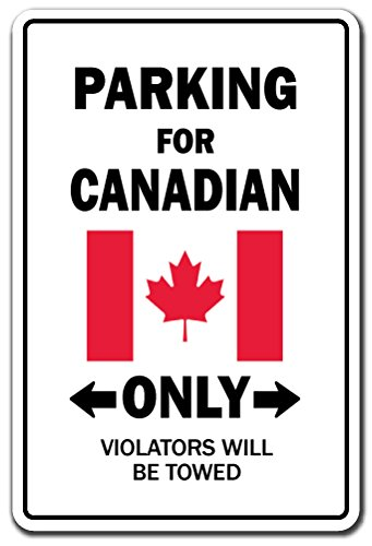 Parking For Canadian Only Canada Flag National Pride Love Gift [3 Pack] of Vinyl Decal Stickers | 3.3