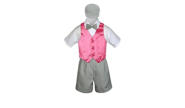 a008d4662 Amazon.com  5pc Formal Baby Toddler Boys Coral Red Vest Lt. Gray ...