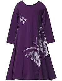 Girls Butterfly Print Dress