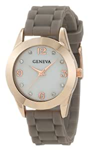 Geneva Moderate Women's AMZ1022 Multi-Strap Collection Mother-Of-Pearl Stone Detail Dial Watch