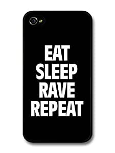 AMAF ? Accessories Eat Sleep Rave Repeat Calvin Harris Writing case for iPhone 4 4S