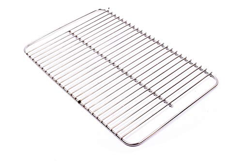 Broilmann 80631 304 Stainless Steel 16 x 10 Go-Anywhere Replacement Cooking Grate Replaces Weber 70211 & 3634, Weber 9201, Fits Charcoal Go-Anywhere 121020, gas Go-Anywhere grills 1141001