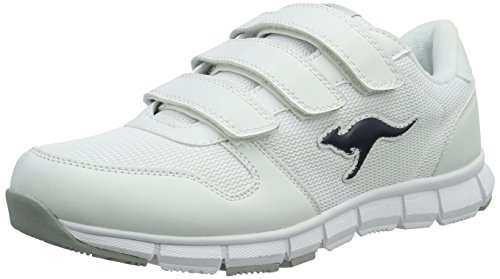 Kangaroos Unisex Adults' K-Bluerun 701 B Trainers, Black, 7 White (White/Dk Navy 042 042)
