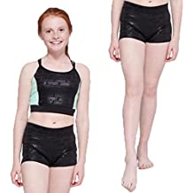 a564cd6f52 Justice Girl's 2-Piece Bundle Strappy Crop Tank & Compression Shorts Set