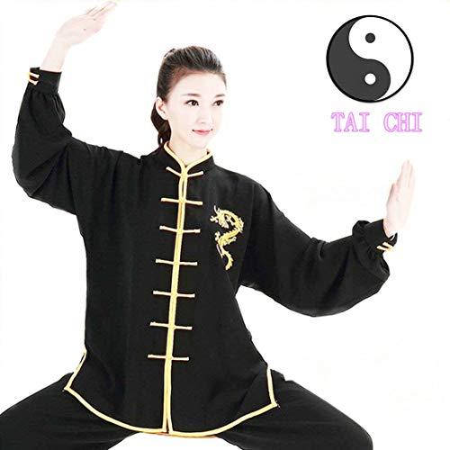 WUYIN Unisex Cotton Silk Tai Chi Uniform Women Silk Tai Chi Kung fu Clothes for Mens Martial Arts Tai Chi Suits Tang Suits Taiji Uniform (XXL, BDT-2)