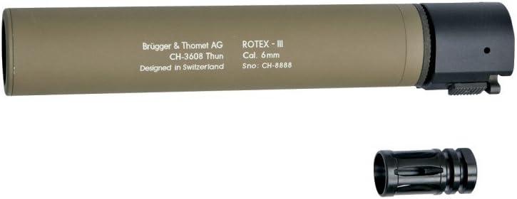 Asg Silenciador B & T Rotex III Adaptador Silencioso, Unisex Adulto, Negro, Talla Única