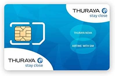Tarjeta SIM NOVA para el Teléfono via satélite Thuraya con 60 Unidades (70 Minutos)