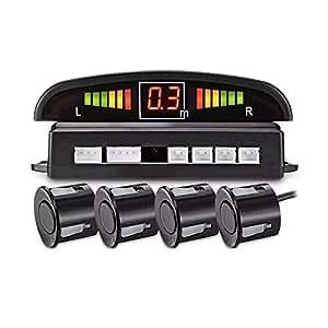 LED Car Parking Sensors Car Reverse Radar System 4 Sensors Parking Assistant Alarm Waterproof Buzzer Reminder