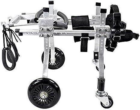 WZCC Médica Rehabilitación de mascotas Soporte de scooter asistido Scooter de perro ajustable/Silla de ruedas para mascotas/Perro para discapacitados Reparación de piernas traseras Asiento de coc