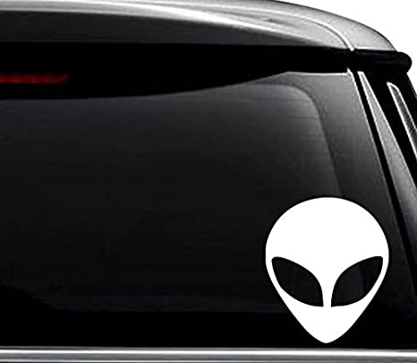 Peace Sign Alien Cool UFO Car Truck Window Wall Laptop Vinyl Decal Sticker.