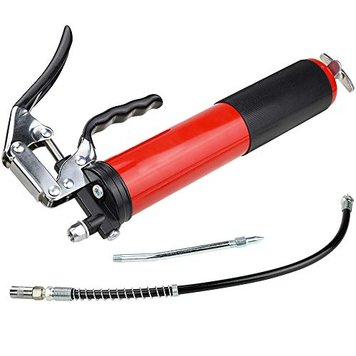 Motovecor Heavy Duty Professional Pistol Grip Grease Gun 6000 PSI - 18 inch Flex Hose by Motovecor