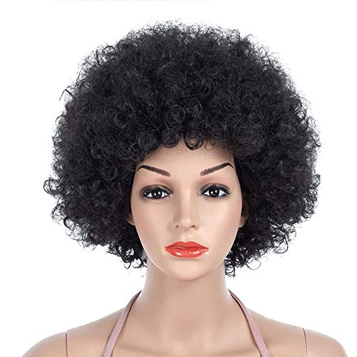 Black Afro Wig | 70's, Hippie, Disco Costume Wig, Funky Black Afro Puff ()