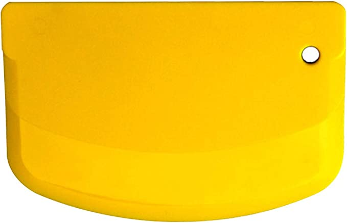 Imagen deRascador de masa, espátula profesional para pasteles, cortador de masa suave, utensilios de cocina para hornear Tamaño libre amarillo
