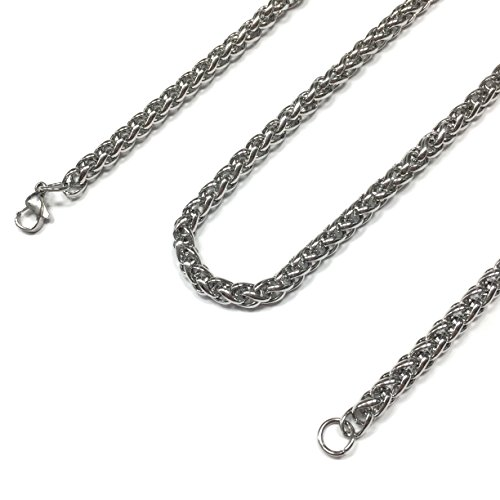 Dog Tag Surplus Stainless Steel Wheat Chain Jewelry Necklace (5MM 30