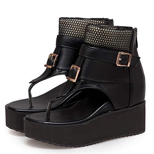 Bride Cheville Zanpa Mode Femmes Chaussures D'été Noir 6PqIXHqx