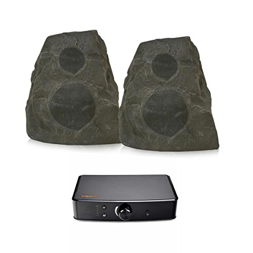 Klipsch AWR-650-SM All Weather 2-Way Speakers with PowerGate Audio Streaming Device (Granite) by Klipsch