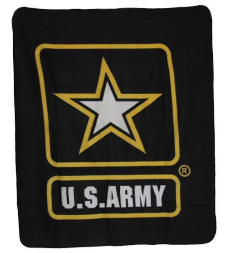 US Army Military Deluxe Polar Fleece Blanket (Army Fleece Throw)