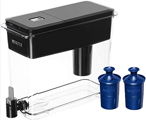 Brita Ultra Max with 2 Longlast Filters, Extra Large 18 Cup, Black