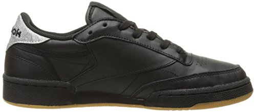 Reebok Damesclub C 85 Diamond Fashion Sneaker Zwart / Gom
