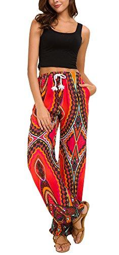 Femmes Taille Urban Dames Imprimer Élastiquée Harem 14 Boho Floral Pantalon  Goco Pqq51 82120913e9e
