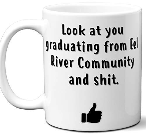 Eel River Community Graduation Gift. Cocoa, Coffee Mug Cup. Student High School Grad Idea Teen Graduates Boys Girls Him Her Class. Funny Congratulations. 11 oz.