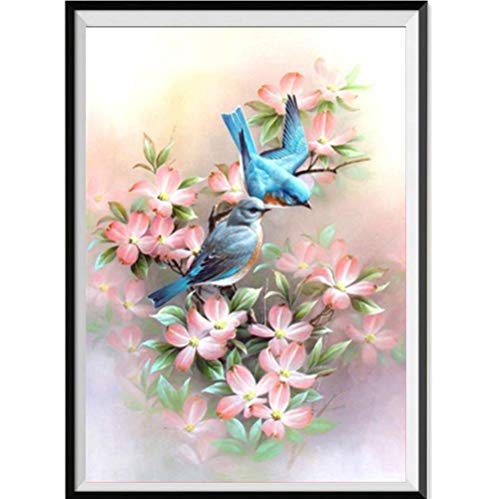 Pandaie New 5D Diamond Painting Kit -Blue Bird- DIY Crystals Diamond Rhinestone Painting Pasted Paint by Number Kits Cross Stitch Embroidery Decor Wall Stickers & Murals Bedroom ()