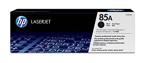 Hewlett Packard Color Laserjet 1600 - HP 85A (CE285A) Black Toner Cartridge for HP LaserJet Pro M1212nf M1217nfw P1102w P1109w
