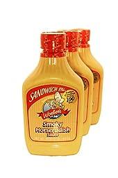 Sandwich Pal Smoky Horseradish Sauce By Woeber 16 Ounce Jars (3 Pack)