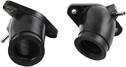 Carburetor Intake Manifold Holder Boot For Yamaha XVS650 V-Star Carburetor Joint Replace part # 4TR-13586-01-00//4TR-13596-01-00 Pack of 2