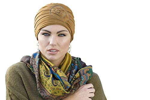 MASUMI Primrose Chemotherapy Headwear for Women   Cotton Hat for Women with Chemo Cancer Hair Loss